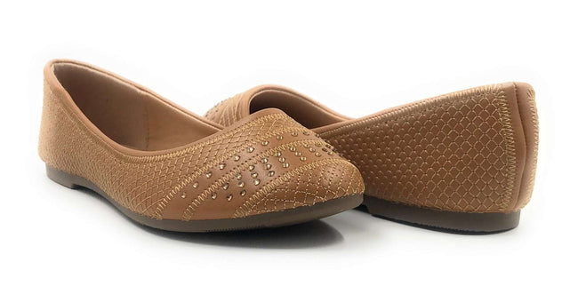 SBUP F07-210 Tan Color  Shoes for Women