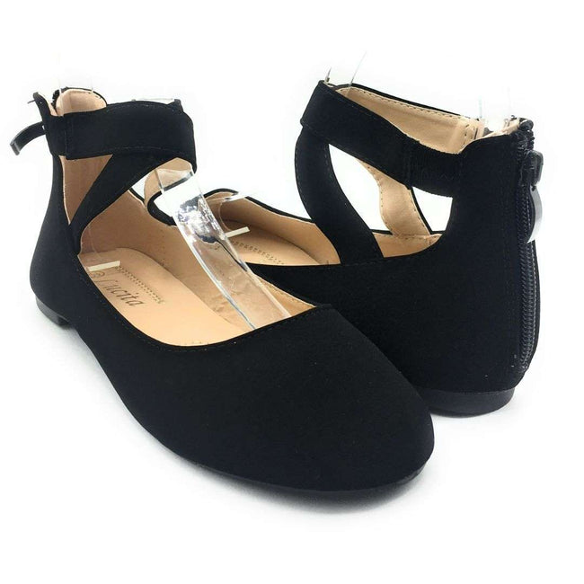 SBUP F15-01 Black Color Ballerina Shoes for Women