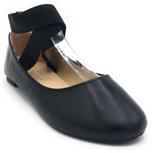 SBUP F15-02 Black PU Color Ballerina Shoes for Women