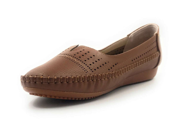 SBUP F18-1003 Camel Color  Shoes for Women