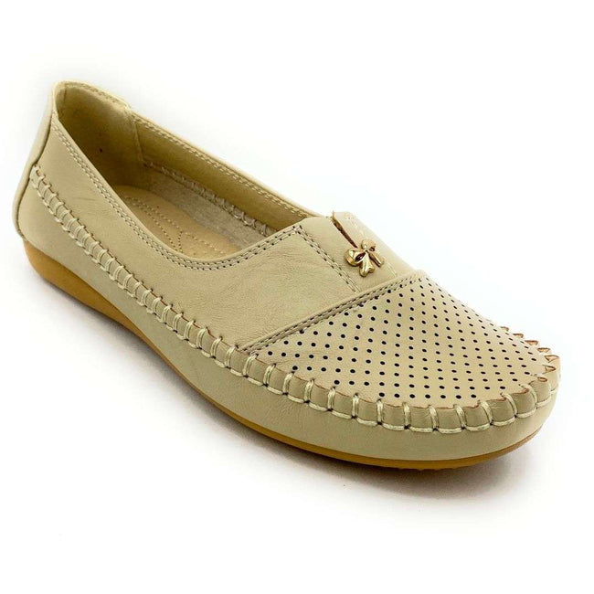 SBUP F8-2003 Beige Color Ballerina Shoes for Women