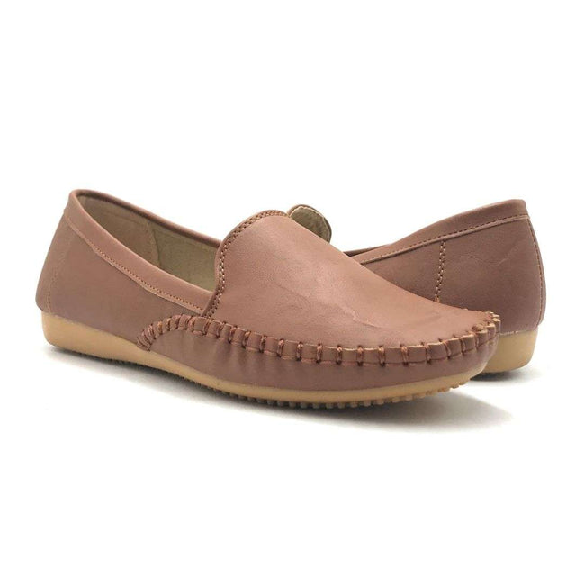 SBUP F8-5004 Camel Color Ballerina Shoes for Women