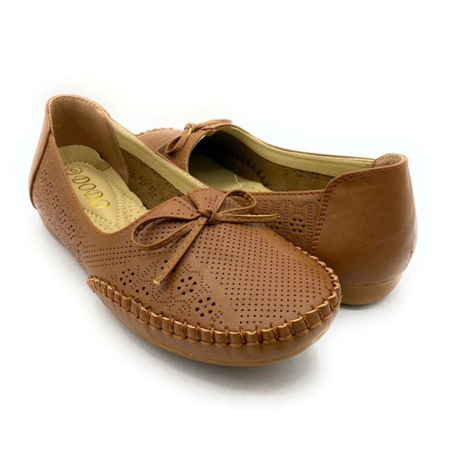 SBUP F8-677 Camel Color Ballerina Shoes for Women
