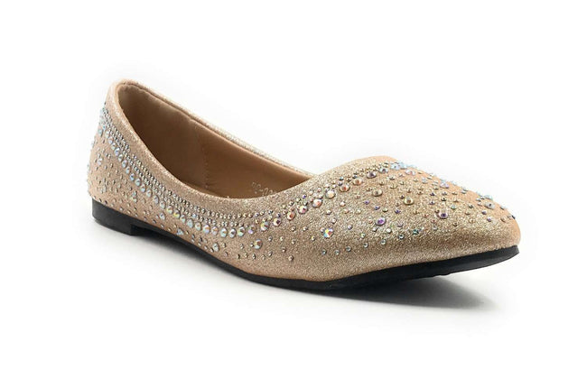 SBUP FC-020 Champagne Color Ballerina Shoes for Women