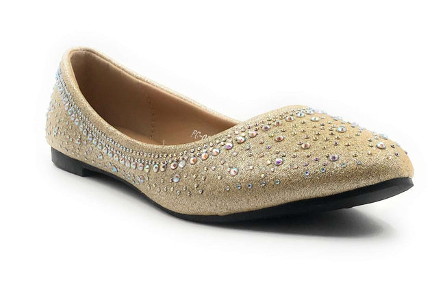 SBUP FC-020 L Gold Color Ballerina Shoes for Women