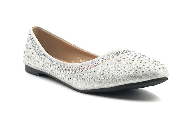 SBUP FC-020 Silver Color Ballerina Shoes for Women