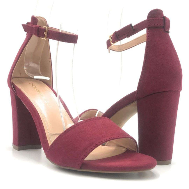 Shoe Republic Arianna Burgundy Color Heels Shoes for Women