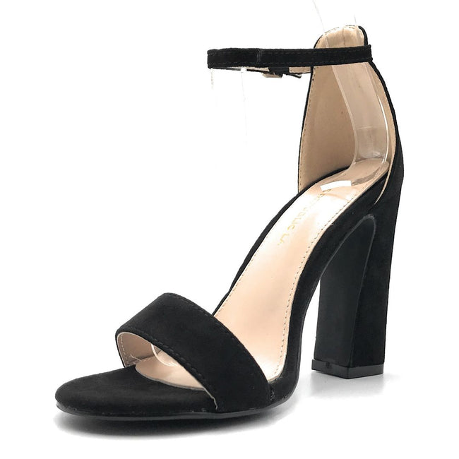 Shoe Republic Shochu Black Color Heels Shoes for Women