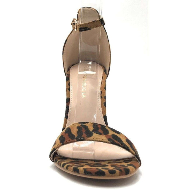 Shoe Republic Shochu Leopard Color Heels Shoes for Women