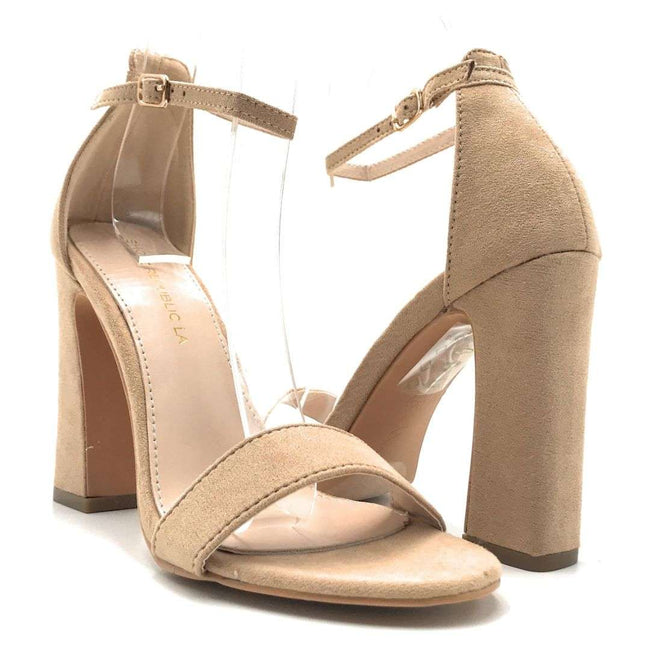 Shoe Republic Shochu Taupe Color Heels Shoes for Women