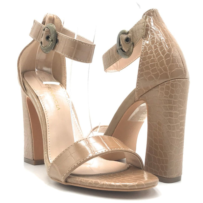 Shoe Republic Valin Taupe Color Heels Shoes for Women