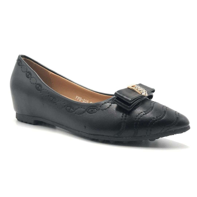 Smartty FP3-008 Black Color Ballerina Shoes for Women