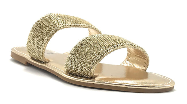 Sunny Feet Coastline-55S Gold Color Flat-Sandals Shoes for Women