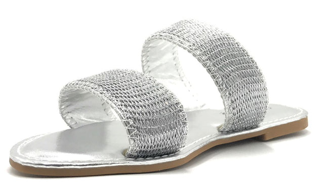 Sunny Feet Coastline-55S Silver Color Flat-Sandals Shoes for Women