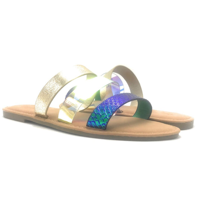 Sunny Feet Shoreline-91 Blue Color Flat-Sandals Shoes for Women