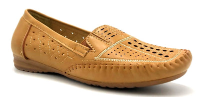 Sup Trading F7-9 Camel Color Moccasin Right Side View, Women Shoes