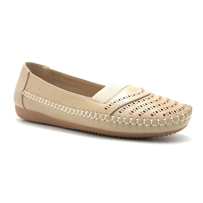 Sup Trading F8-1011 Beige Color Ballerina Shoes for Women