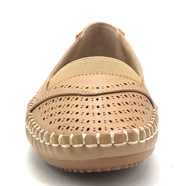 Sup Trading F8-1011 Camel Color Ballerina Shoes for Women