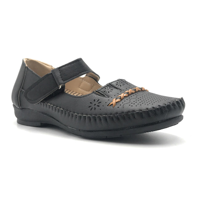 Sup Trading F8-2016 Black Color Ballerina Shoes for Women