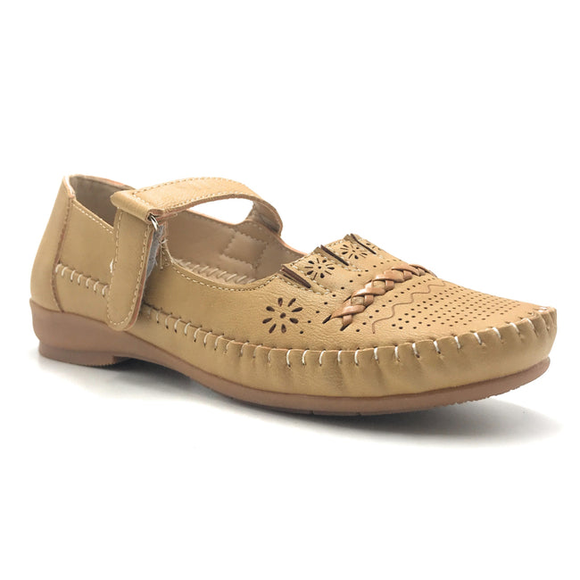 Sup Trading F8-2016 Camel Color Ballerina Shoes for Women