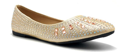 Sup Trading FU-2001 Champagne Color Ballerina Right Side View, Women Shoes