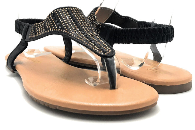 Sup Trading Pecko-1919 Black Color Flat-Sandals Shoes for Women