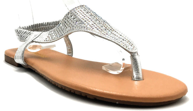 Sup Trading Pecko-1919 Silver Color Flat-Sandals Shoes for Women