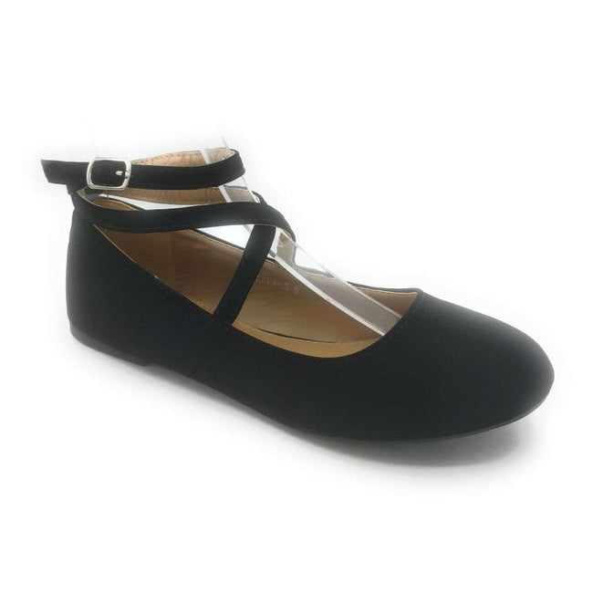 Top Moda Brea-3 Black Color Flat-Sandals Shoes for Women