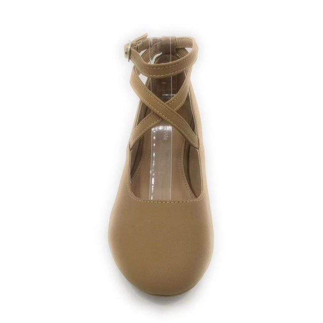Top Moda Brea-3 Tan Color Flat-Sandals Shoes for Women