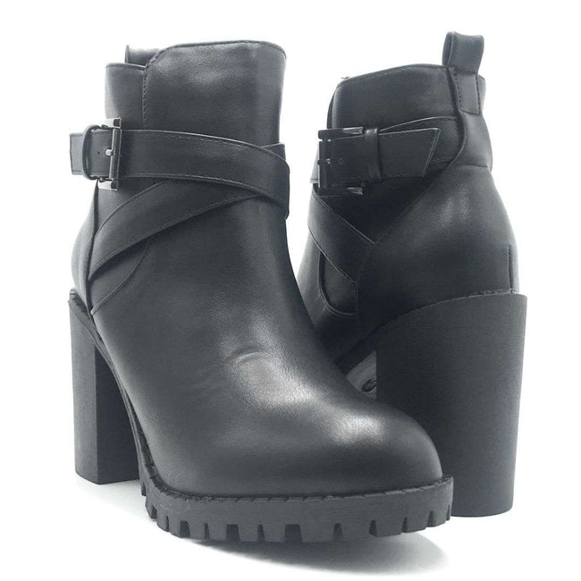 Top Moda Michi-45 Black Color Boots Shoes for Women