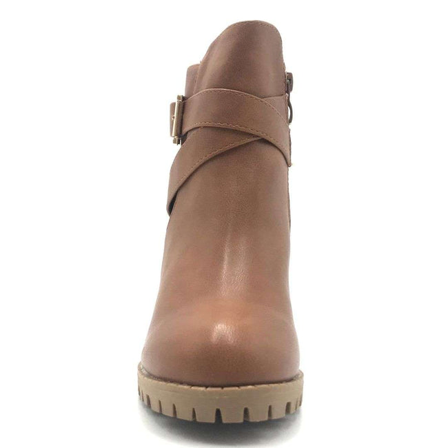 Top Moda Michi-45 Tan Color Boots Shoes for Women