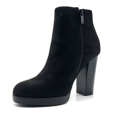 Top Moda Sapri-1 Black Color Boots Right Side View, Women Shoes