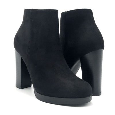 Top Moda Sapri-1 Black Color Boots Both Shoes together, Women Shoes