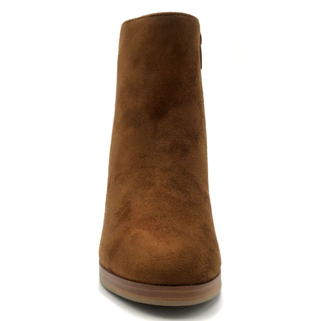 Top Moda Sapri-1 Tan Color Boots Front View, Women Shoes