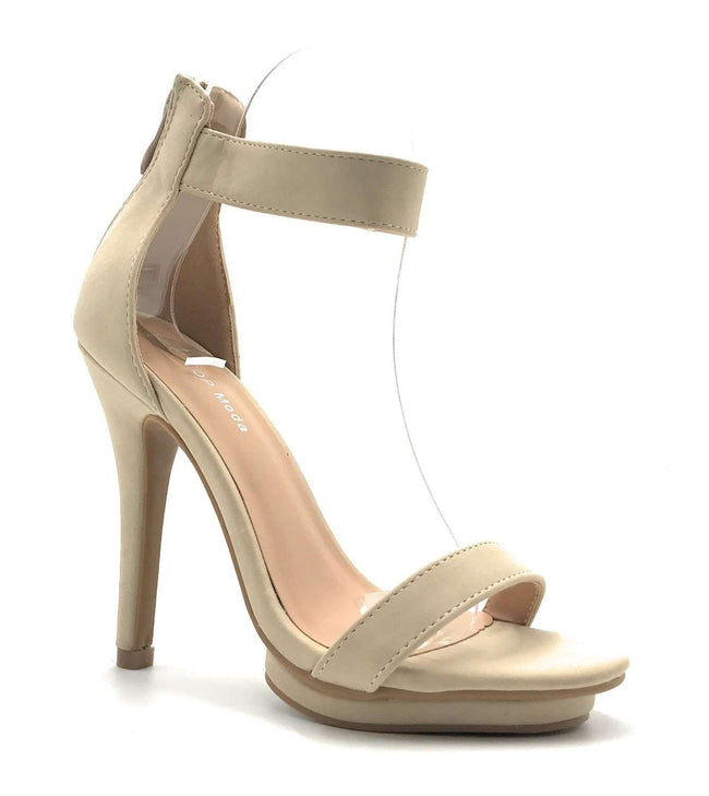 Top Moda Shona-1 Beige Color Heel Shoes for Women