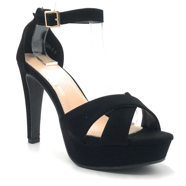 Top Moda Skyler-2 Black Color Heels Shoes for Women