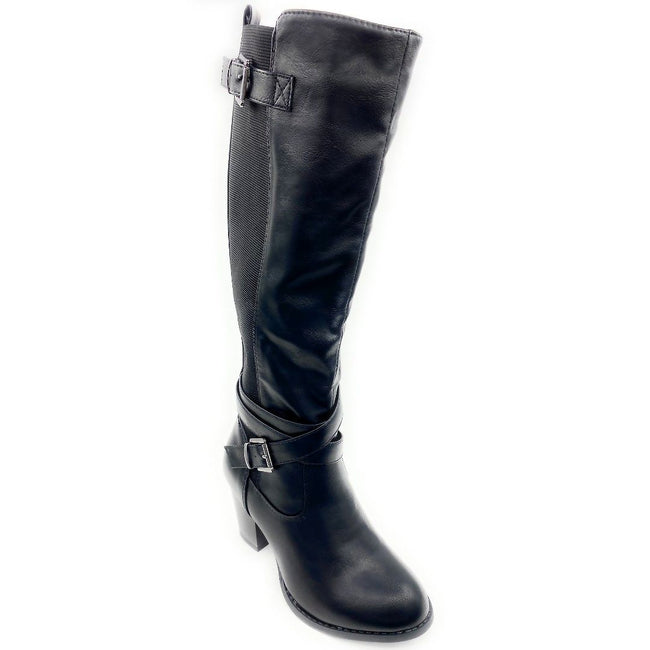 Top Moda Storm-1 Black Color Boots Right Side View, Women Shoes