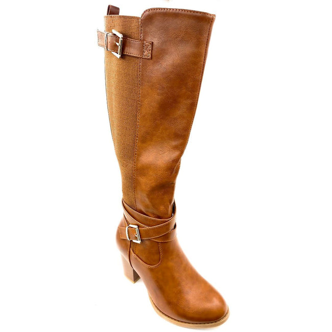 Top Moda Storm-1 Tan Color Boots Right Side View, Women Shoes