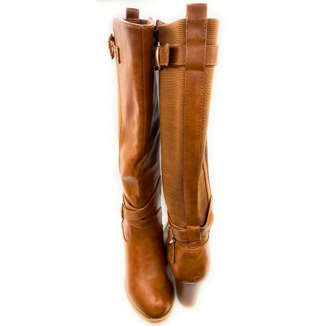 Top Moda Storm-1 Tan Color Boots Both Shoes together, Women Shoes