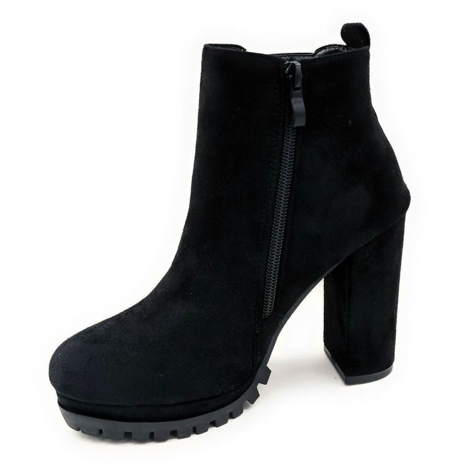 Top Moda Teca-5 Black Su Color Boots Right Side View, Women Shoes