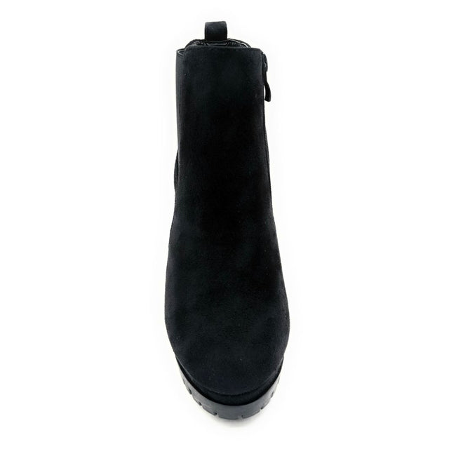 Top Moda Teca-5 Black Su Color Boots Front View, Women Shoes