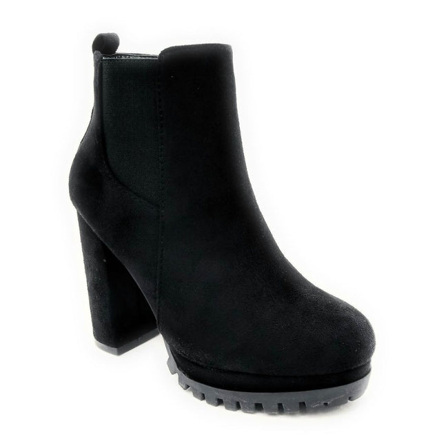Top Moda Teca-5 Black Su Color Boots Left Side view, Women Shoes