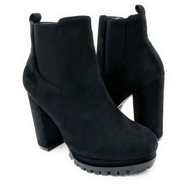 Top Moda Teca-5 Black Su Color Boots Both Shoes together, Women Shoes