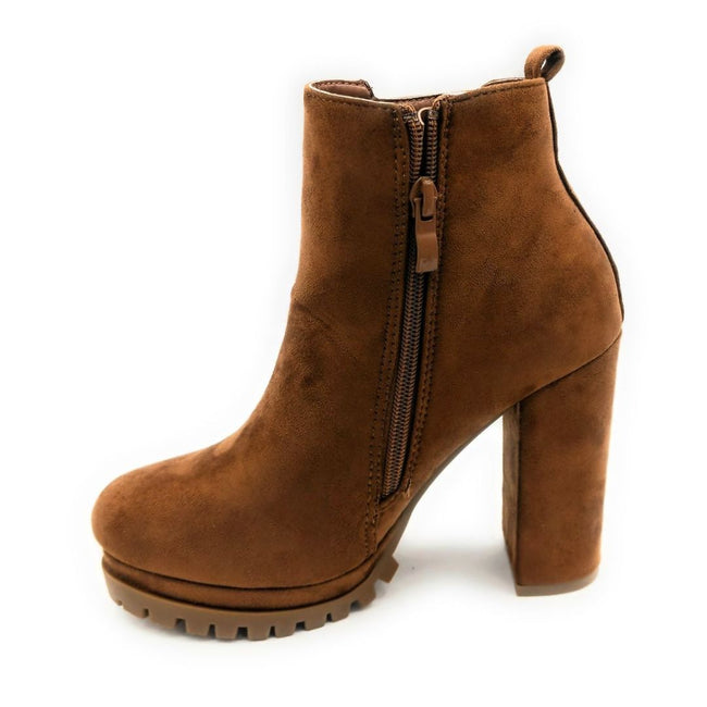 Top Moda Teca-5 Tan Su Color Boots Right Side View, Women Shoes