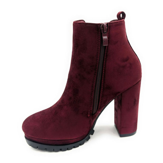 Top Moda Teca-5 Wine Su Color Boots Right Side View, Women Shoes