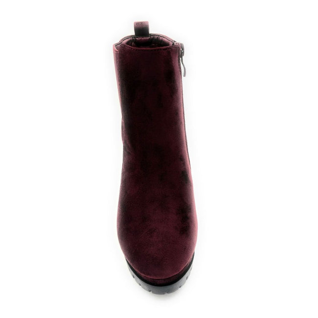 Top Moda Teca-5 Wine Su Color Boots Front View, Women Shoes