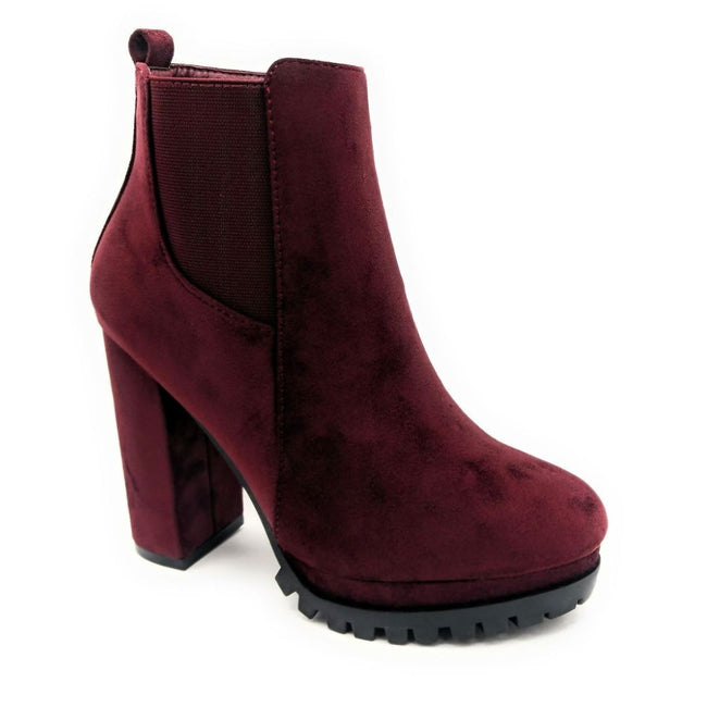 Top Moda Teca-5 Wine Su Color Boots Left Side view, Women Shoes