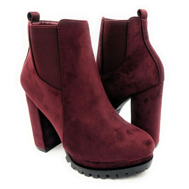 Top Moda Teca-5 Wine Su Color Boots Both Shoes together, Women Shoes