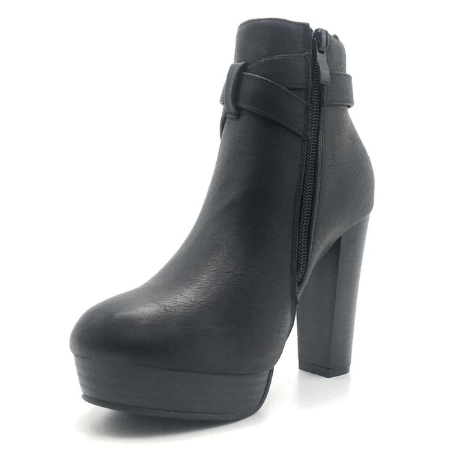 Top Moda Valencia-1 Black Color Boots Shoes for Women