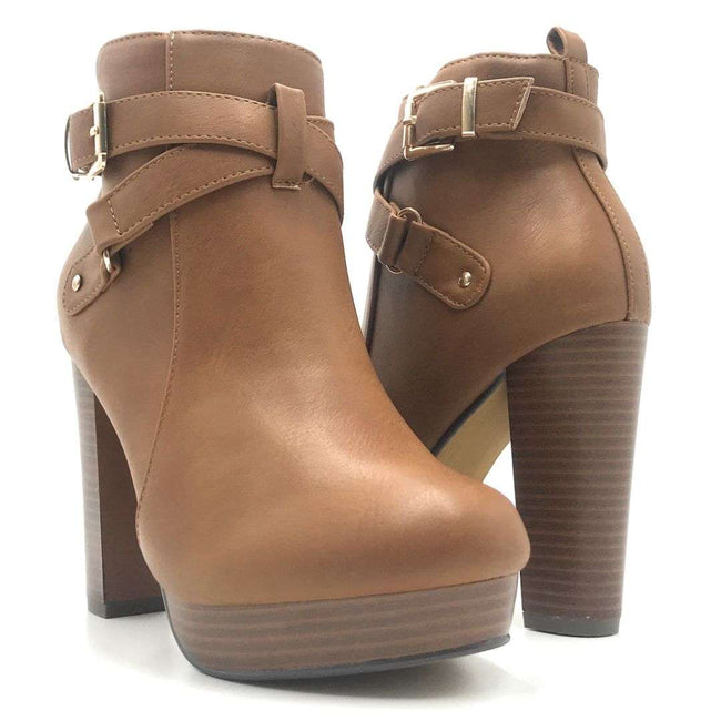 Top Moda Valencia-1 Tan Color Boots Shoes for Women